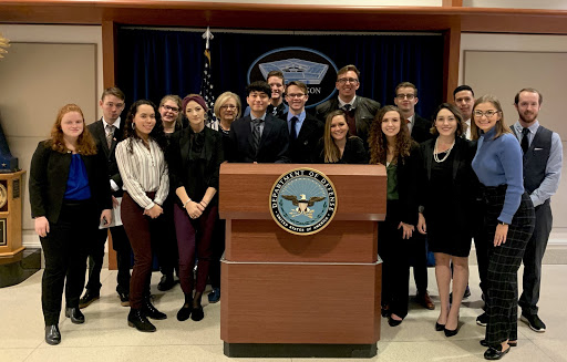 The class during their visit to the Pentagon.