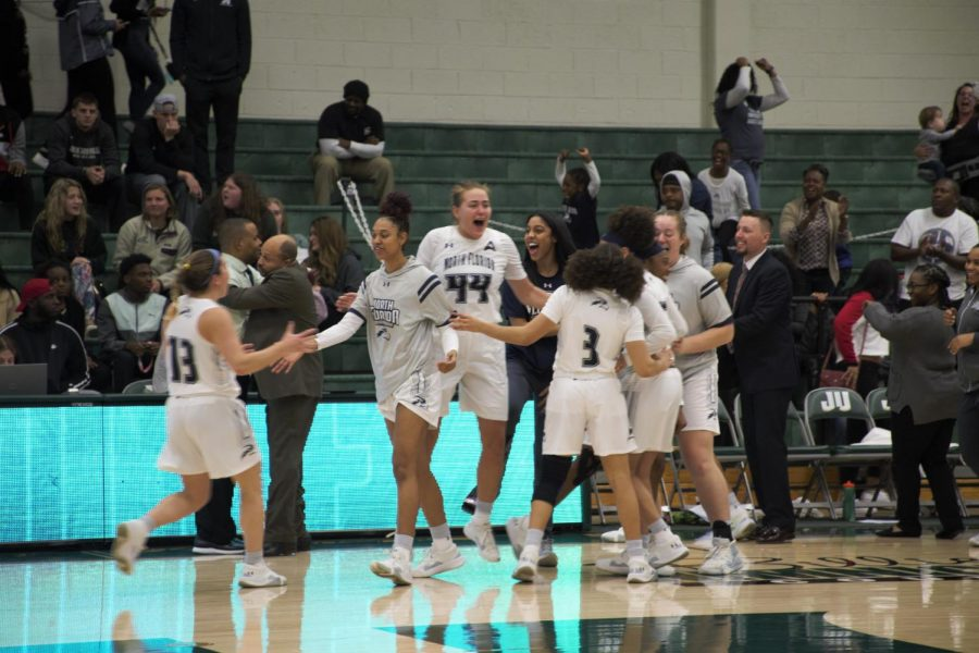 The Ospreys took down the Dolphins at Swisher Gymnasium back in January