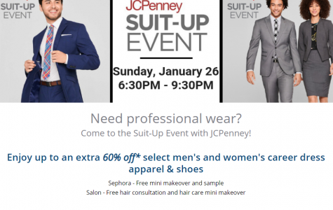 Suit up at JCPenny's for the upcoming Osprey Career Fair