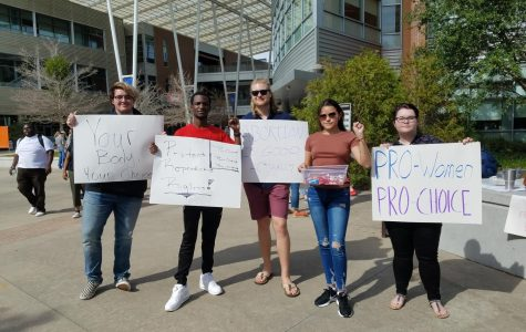 Students for a Democratic Society makes an appearance at anti-abortion event