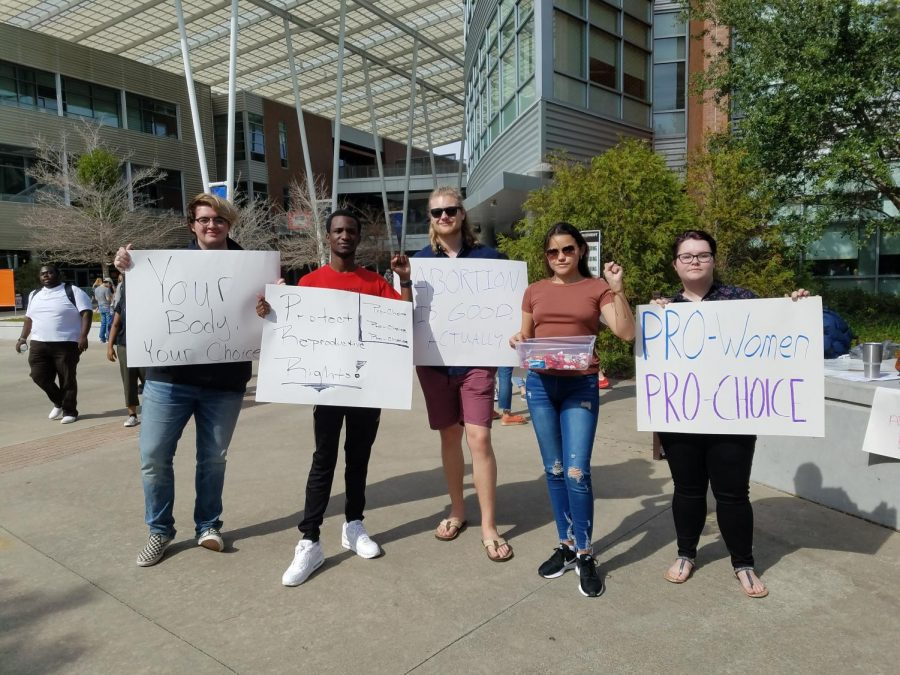 UNF SDS comes out to the Abortion Awareness Project on February 11, 2020. Photo credit Courtney Green.
