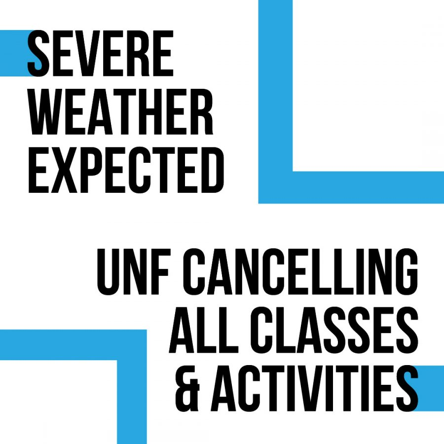 Severe Weather Alert: UNF Cancelling All Classes and Activities