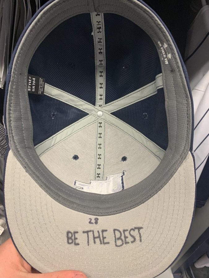 Clayton's cap for the UNF Ospreys. Photo courtesy of Logan Clayton