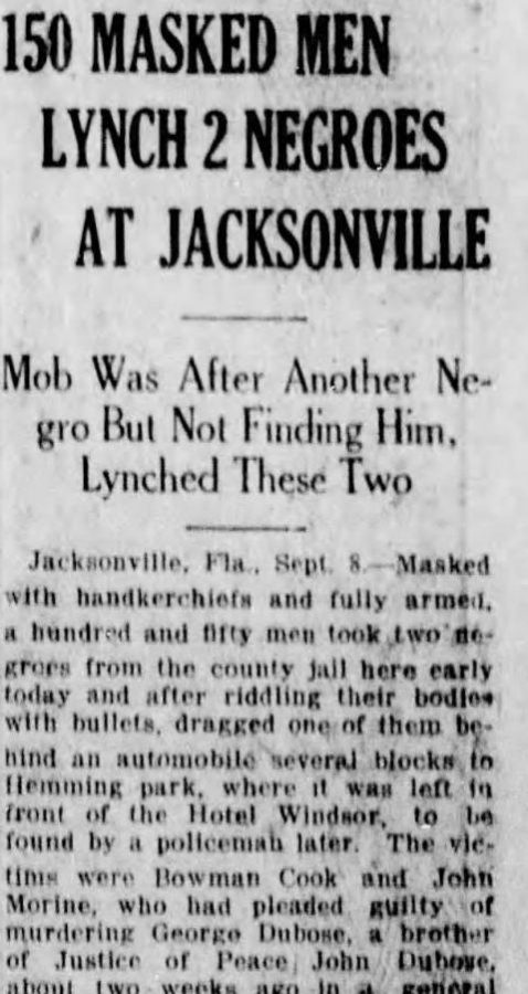 Jacksonville's History With Lynching