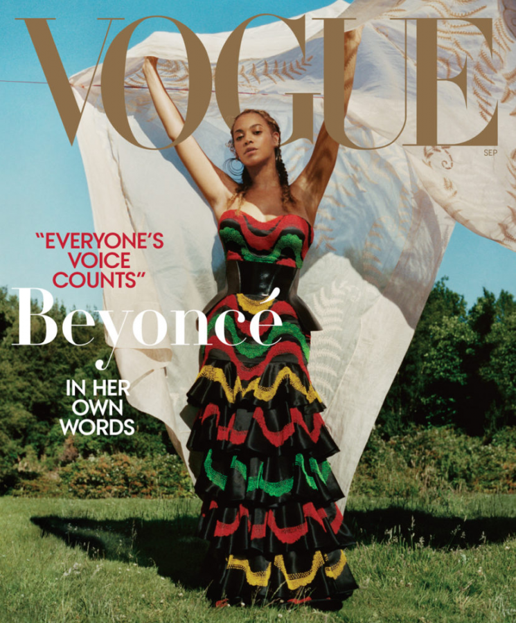 Front cover of Vogue featuring Beyonce
