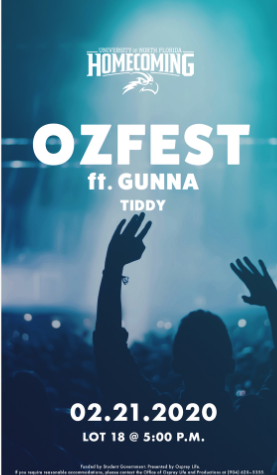 Flyer for OZ Fest, Spring 2020.