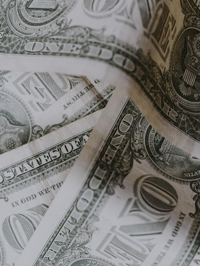 photo of one dollar bills