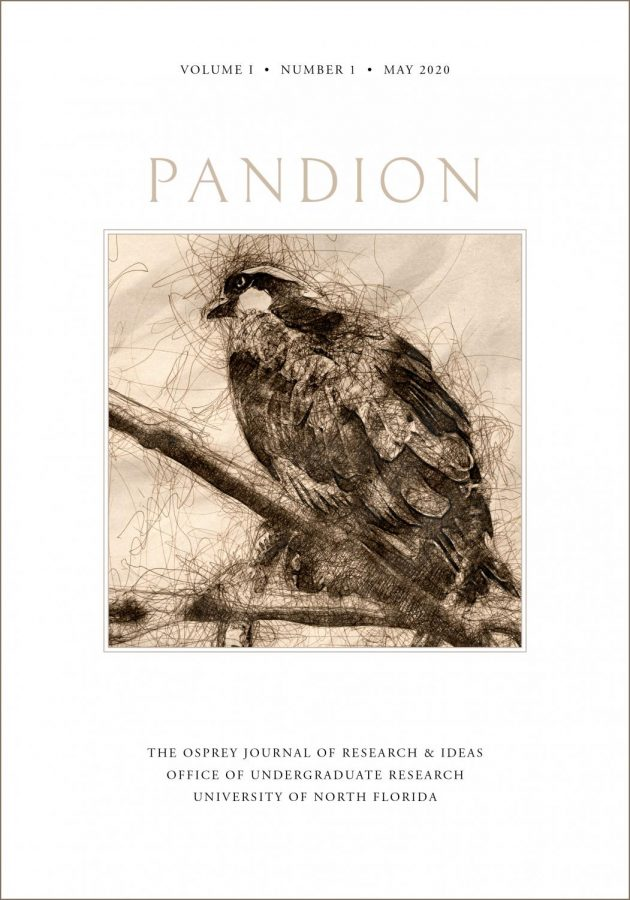 Working mock-up of Pandions print cover. Artwork is subject to change. Created by Michael Boyles, CIRT Graphic Designer.