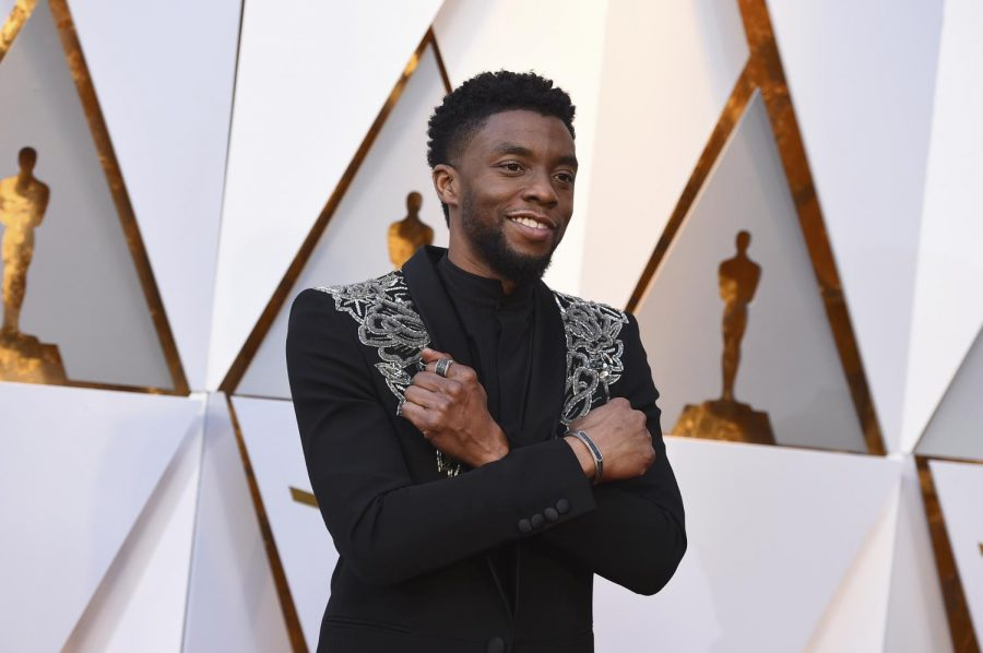 FILE+-+In+this+March+4%2C+2018+file+photo%2C+Chadwick+Boseman+arrives+at+the+Oscars+at+the+Dolby+Theatre+in+Los+Angeles.+Actor+Chadwick+Boseman%2C+who+played+Black+icons+Jackie+Robinson+and+James+Brown+before+finding+fame+as+the+regal+Black+Panther+in+the+Marvel+cinematic+universe%2C+has+died+of+cancer.+His+representative+says+Boseman+died+Friday%2C+Aug.+28%2C+2020+in+Los+Angeles+after+a+four-year+battle+with+colon+cancer.+He+was+43.+%28Photo+by+Jordan+Strauss%2FInvision%2FAP%2C+File%29
