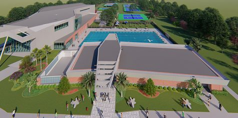 A detailed render of what the pool will look like once construction is finished in June 2021 Source: UNF Marketing and Publications