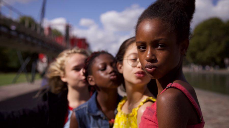 (Clock-wise) Jess (Ilanah Cami-Goursolas,) Coumba (Esther Gohourou,) Angelica (Médina El Aidi-Azouni,) and Amy (Fathia Youssouf)