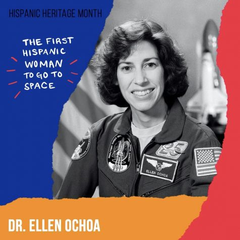 Dr. Ellen Ochoa was the first Hispanic woman to go to space.