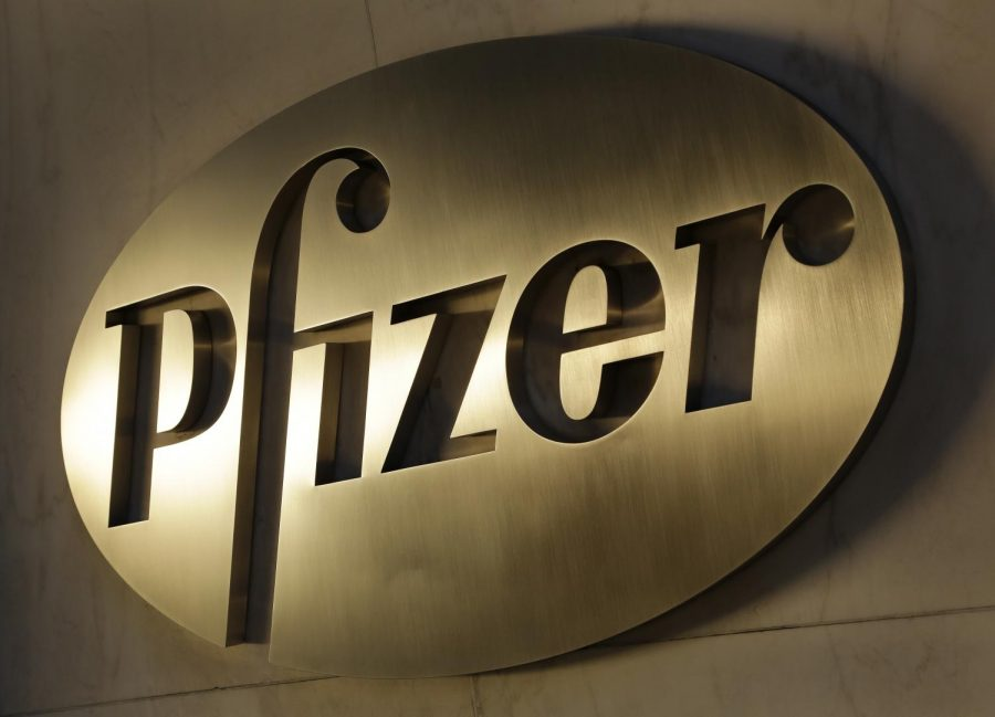 FILE+-+In+this+Monday%2C+Nov.+23%2C+2015%2C+file+photo%2C+the+Pfizer+logo+is+displayed+at+world+headquarters+in+New+York.+On+Monday%2C+Nov.+9%2C+2020%2C+Pfizer+said+an+early+peek+at+its+vaccine+data+suggests+the+shots+may+be+90%25+effective+at+preventing+COVID-19.+%28AP+Photo%2FMark+Lennihan%2C+File%29