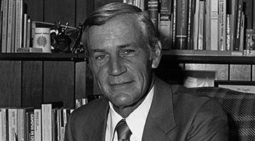 President Thomas Carpenter at his desk.