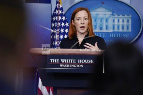 White House press secretary Jen Psaki speaks during a press briefing at the White House, Thursday, Feb. 11, 2021, in Washington. (AP Photo/Evan Vucci)