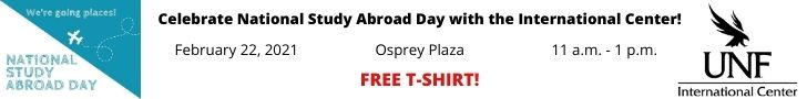 Advertisement for National Study Abroad Day