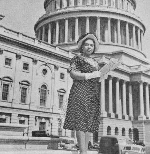 Photo of Alice Allison Dunnigan at the U.S. Capitol. Photo courtesy of The New York Times.