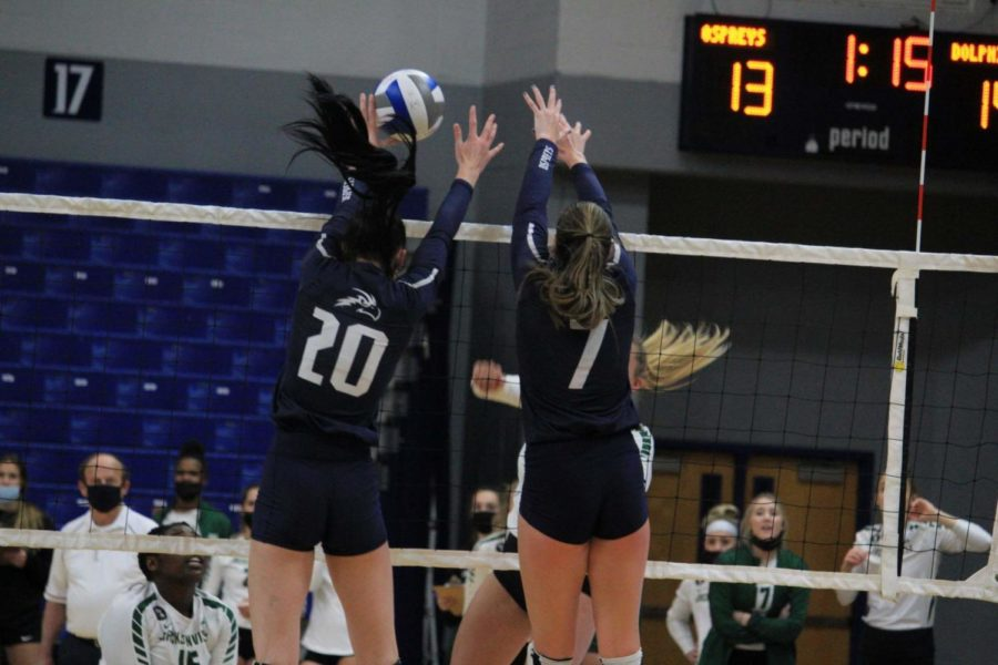 UNF volleyball aces their way to victory in regular-season finale over Stetson