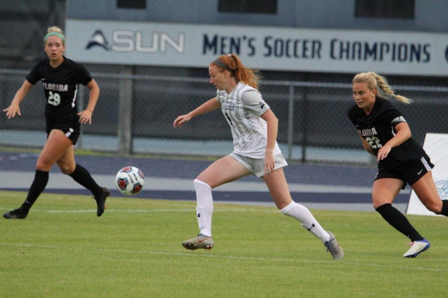 UF scores pair of late goals to hand UNF first loss of season