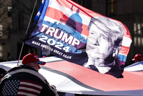 FILE - In this March 5, 2021, file photo protesters supporting former President Donald Trump march down Fifth Avenue on their way towards Times Square in New York. Trump ended his presidency with such a firm grip on Republican voters that party leaders fretted he would freeze the field of potential 2024 candidates, delaying preparations as he teased another run. Instead, many Republicans with national ambitions are openly laying the groundwork for campaigns as Trump continues to mull his own plans. (AP Photo/John Minchillo, File)