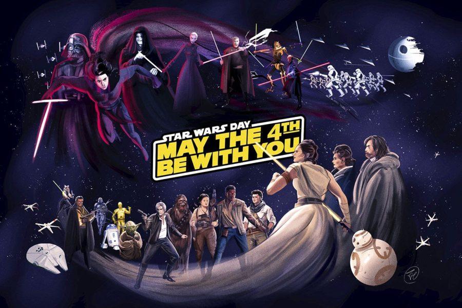 Star Wars mural, by Zi Xu