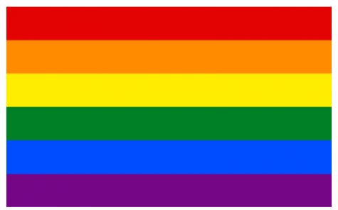 The common LGBT Flag, created by Gilbert Baker.