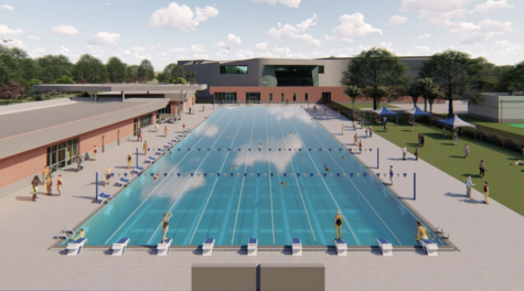 This mockup of the new aquatic complex looks to improve UNF