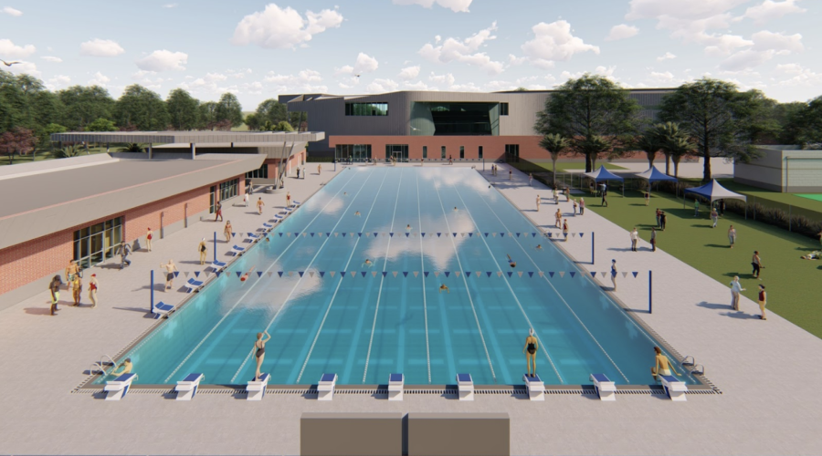 This mockup of the new aquatic complex looks to improve UNFs swimming program as its set to be completed sometime this summer