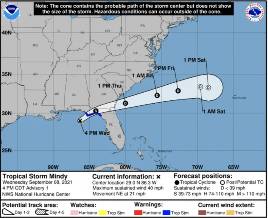 Updated: Tropical Depression Mindy travels across southern Georgia, missing Jacksonville